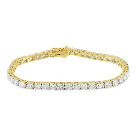 Womens Tennis Link Bracelet 11 81ct Solitaire Diamonds 14k Real Gold
