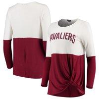 Cleveland Cavaliers Women's In It To Win It Colorblock Long Sleeve T-Shirt - Wine
