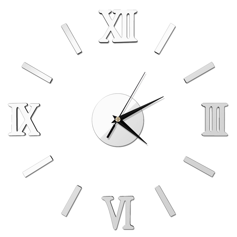 Click here to buy 3D DIY Wall Clock Modern Frameless Large Mirror Surface Effect Wall Clock for Home Living....