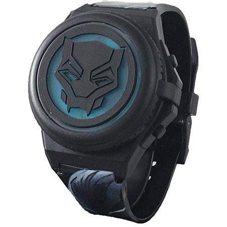 Black Panther Kid's Light Up Digital Watch with Opening Face Cover - Witch Getup For Halloween