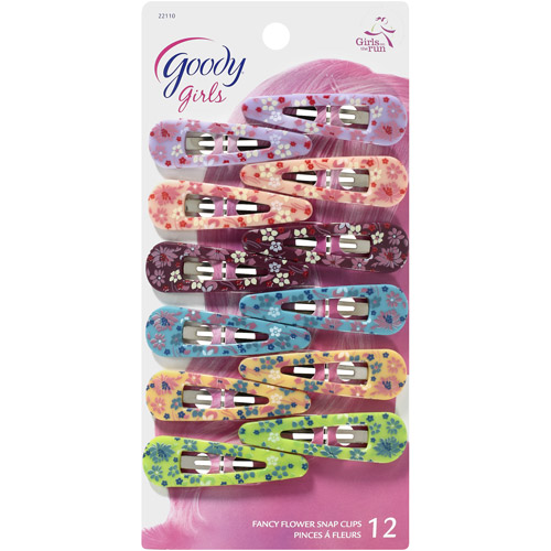 Hair Hints: Snap Clips Flowers, 1 Ct