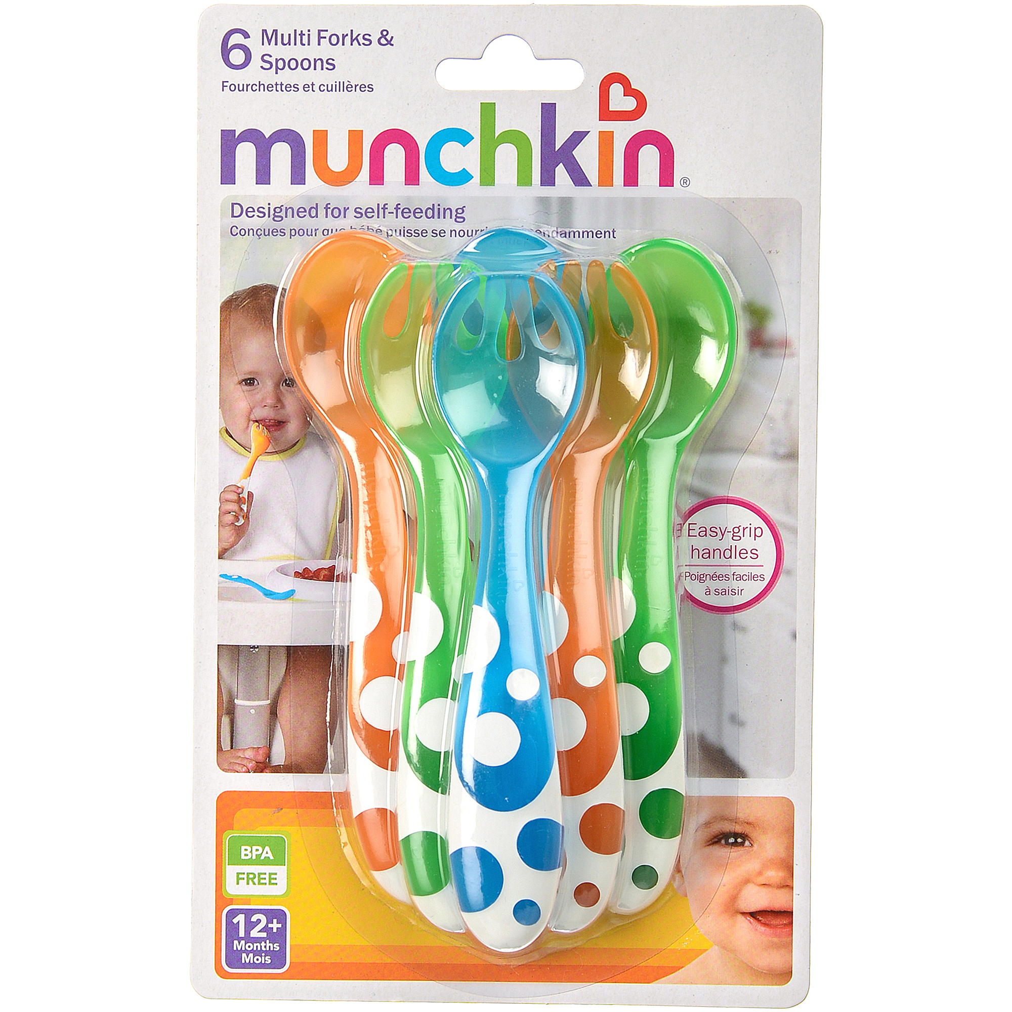 Munchkin Multi Forks and Spoons, 6-Pack, BPA-Free