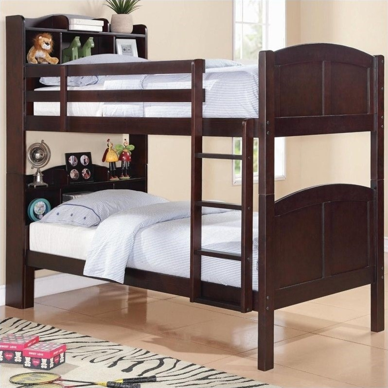 Bowery Hill Bookcase Twin over Twin Bunk Bed