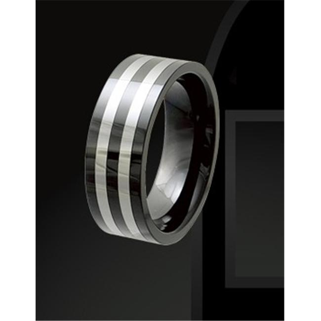 Rising Time TCR-3081-sz-10 Tungsten Ceramic Band Size- 10