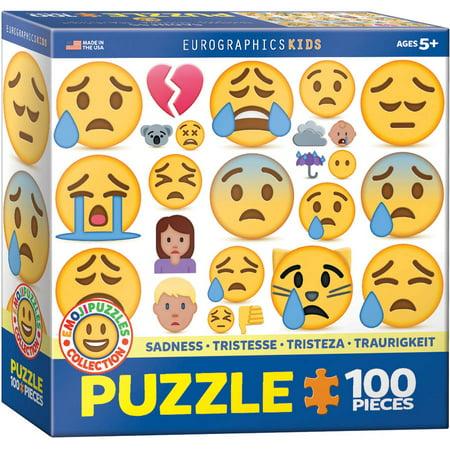 Emojipuzzle Sadness 100-Piece Puzzle Burj Al Arab Puzzle
