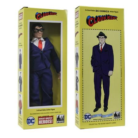 DC Comics Mego Style Boxed 8 Inch Action Figures: Clark Kent - Clark Kent Wig
