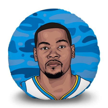 Kevin Durant Golden State Warriors 15'' Round Pillow Head - No Size