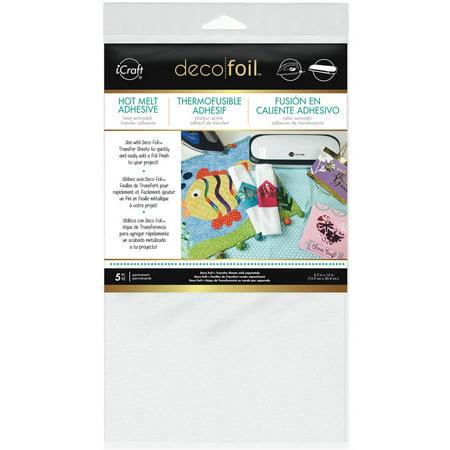 Deco Foil Iron On Adhesive Transfer Sheet  5 5  X 12   5Pk