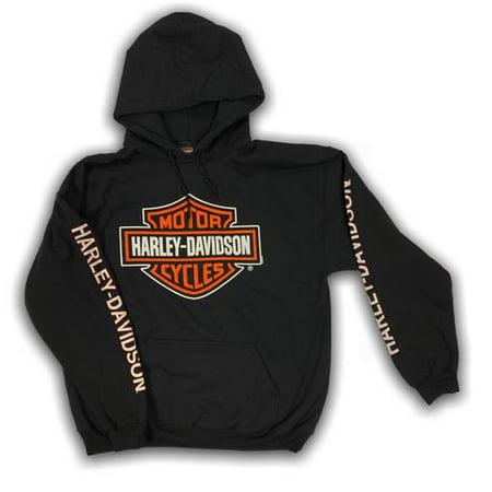Harley-Davidson Men's Bar & Shield Logo Pullover Hooded (Carhartt Midweight Logo Hooded Pullover)