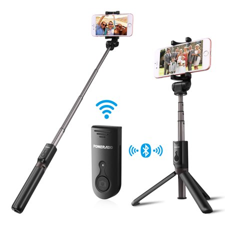 Poweradd 3.0 Bluetooth Selfie Stick 360 Degree Rotation Extendable Wireless Bluetooth Shutter Selfie Stick Tripod Stand for iPhone X /iPhone 8 8 Plus 7 7 Plus Samsung Galaxy Note 8 S8 S8