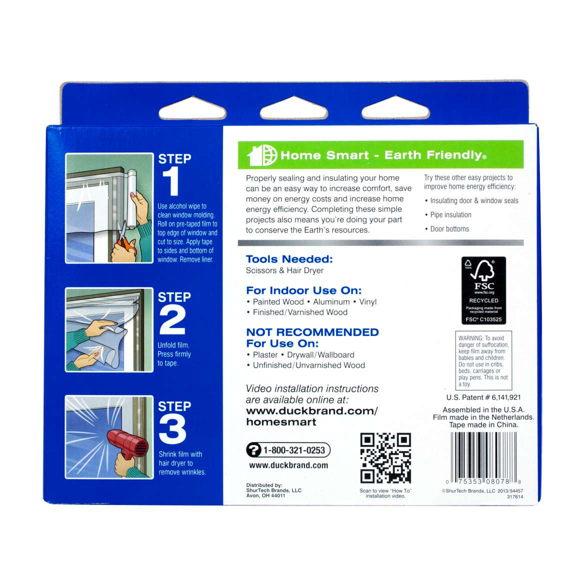 Duck Brand Roll On Outdoor Window Kit For Extra Large Windows And