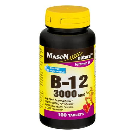 Mason Vitamins B12 Sublingual Tablets, 300mcg, 100 - Sublingual 200 Tabs