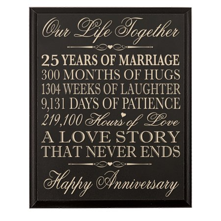 25th Wedding Anniversary Wall Plaque - Our Life Together - 12x15 - 25th Wedding Anniversary