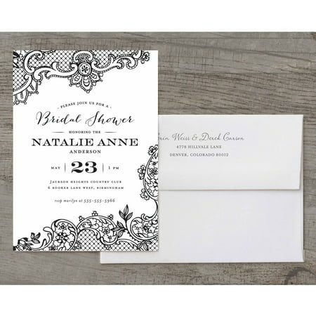 Invitation In A Bottle (Loving Lace Deluxe Bridal Shower)