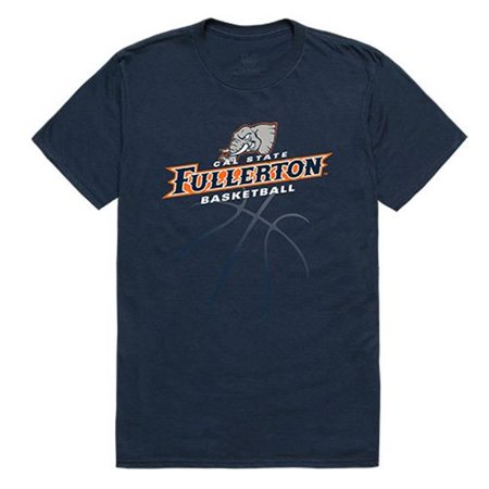 W Republic Apparel 510-108-BGT-01 Cal State Fullerton Basketball Tee Mens Tee, Navy - (Fullerton Mall)
