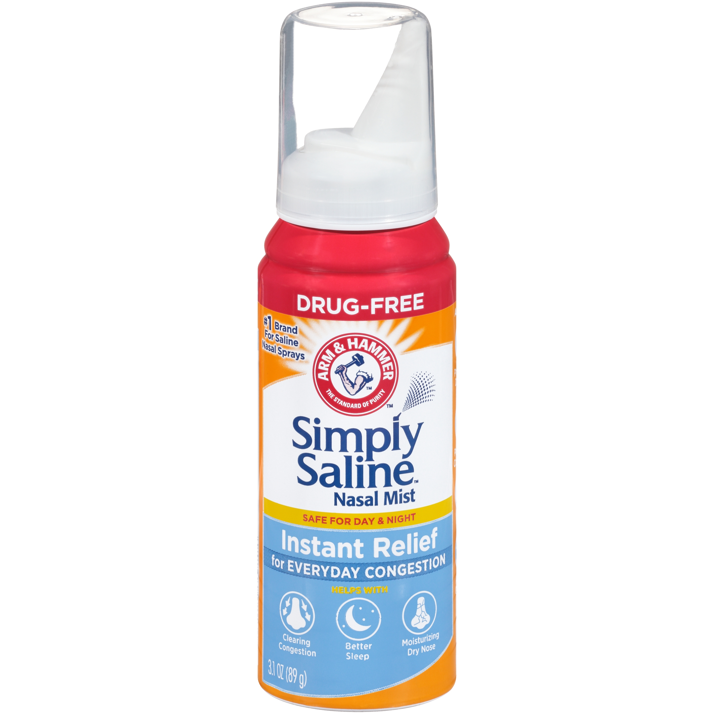 Arm & Hammer™ Simply Saline™ Nasal Relief Nasal Mist 3.0 fl. oz. Spout-Top Can