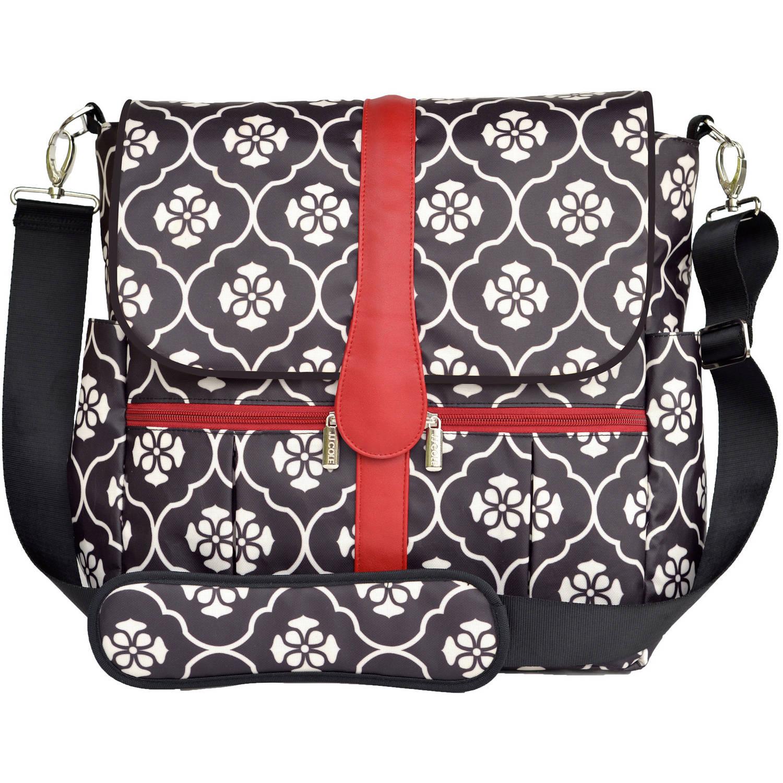 JJ Cole Backpack Diaper Bag, Black Floret