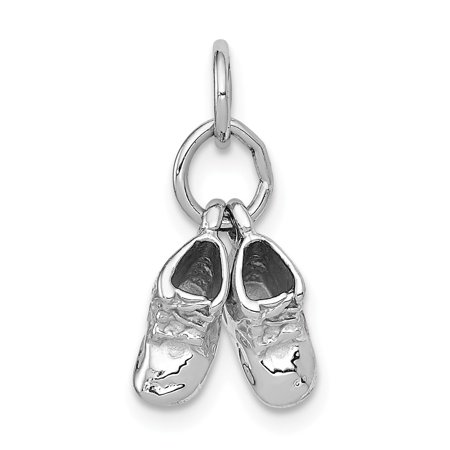 14k White Gold Baby Shoes (White Gold Shoe Charm)