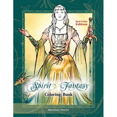 Spirit & Fantasy Coloring Book : Black & White - Spirit Coloring Pages
