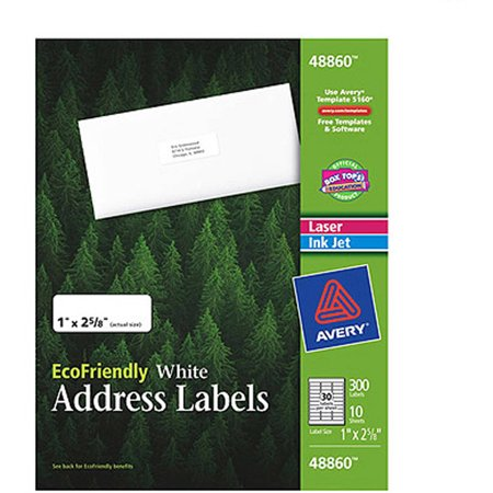 averyr ecofriendly address labels 48860 1 x 2 5