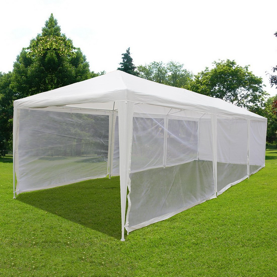 Quictent 10X30 Outdoor Canopy Gazebo Party Wedding tent Screen House Sun Shade Shelter with Fully Enclosed Mesh Side... by