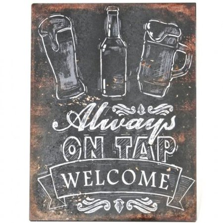 (Williston Forge 'Always on Tap Welcome' Vintage Advertisement on Metal)