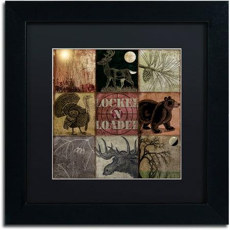 Trademark Fine Art  Cabela Clock  Canvas Art By Color Bakery Black Matte  Black Frame