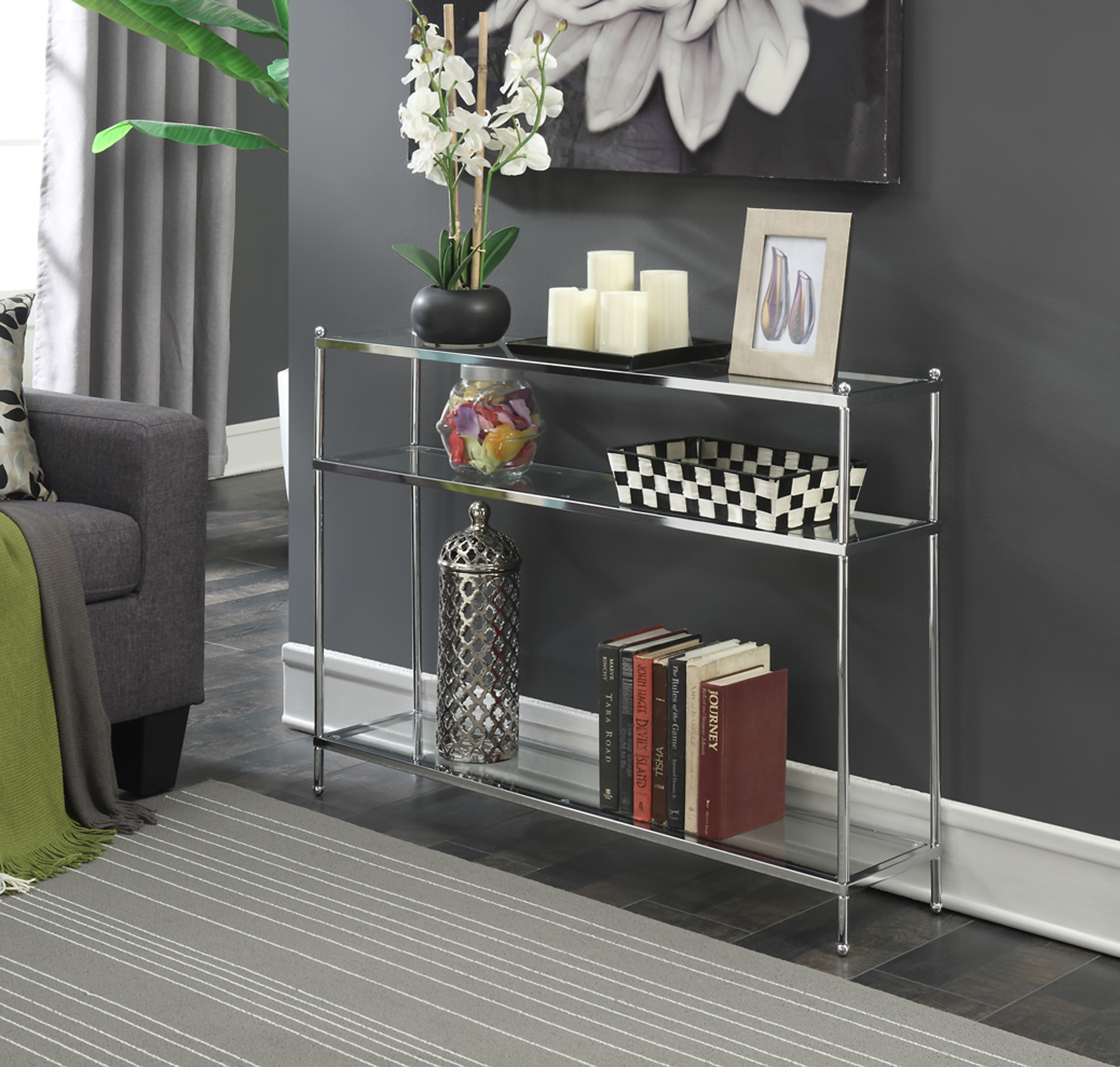 Convenience Concepts No Tools Royal Crest Console Table by Convenience Concepts Inc