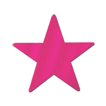 Foil Star Cutout Cerise -9