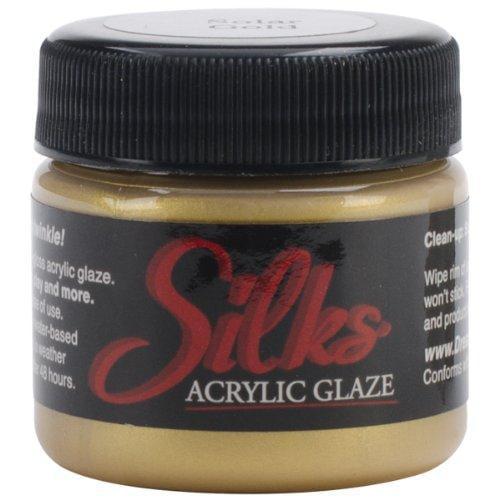 Luminarte Silks Acrylic Glaze Jar, 1-Ounce, Solar Gold Multi-Colored