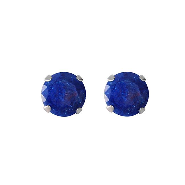 Precious Stars Jewelry Sterling Silver 4.25-mm Purple/Blue Ice Cubic Zirconia Stud Earrings - image 1 of 1
