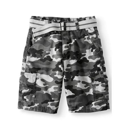 Belted Camo Cargo Shorts (Big Boys)