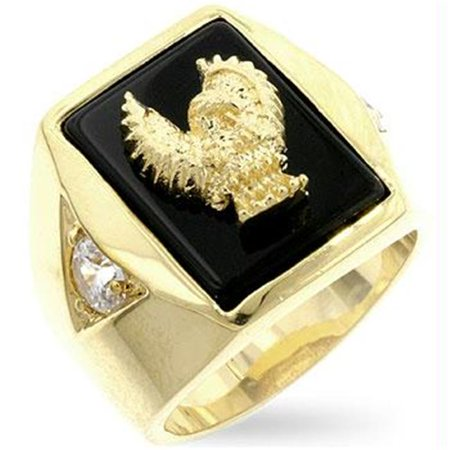 Golden Eagle Mens Ring, Size : 13 Onyx Eagle Ring