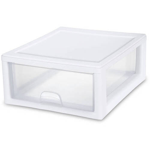 Sterilite 16 Quart Shallow Drawer White Available In