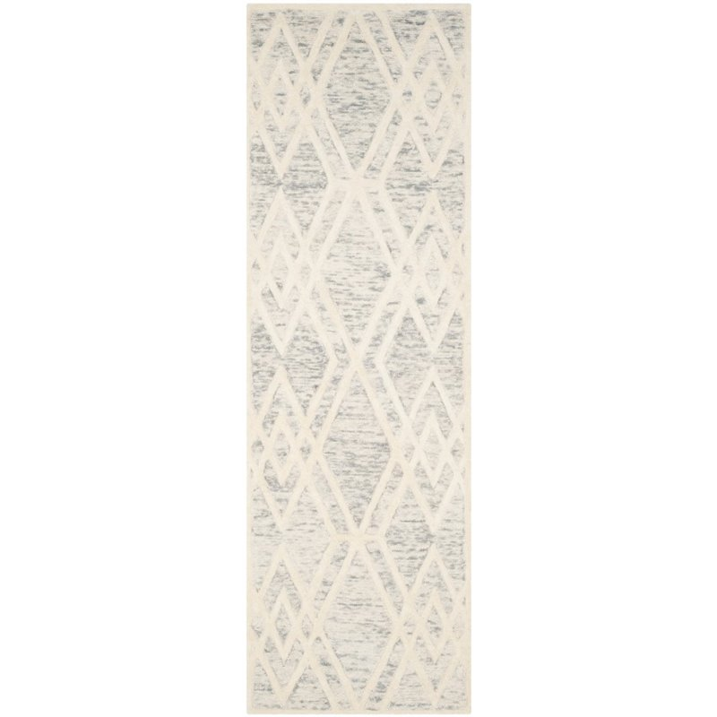 Safavieh Cambridge 4' X 6' Hand Tufted Wool Rug in Gray and Ivory - image 9 of 10