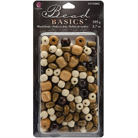 Jewelry Basics Wood Bead Mix, 3.7 oz,