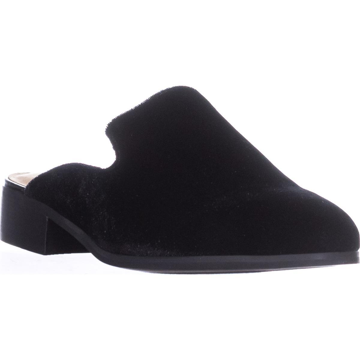 Womens Bella Vita Briar II Backless Loafers, Black Velvet by Bella Vita