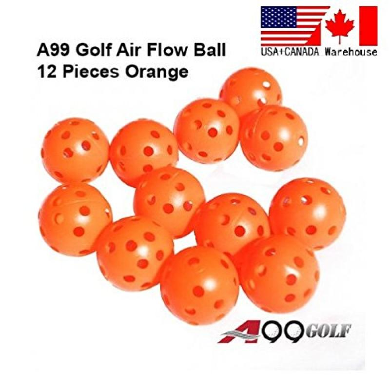 12pcs Golf practice air flow balls training aids Orange color by
