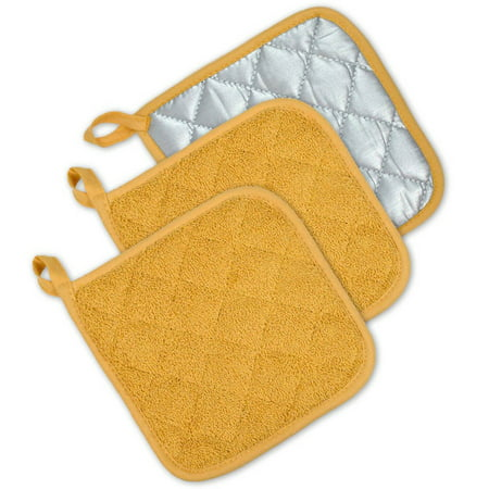 DII Terry Kitchen Potholder Set, Set of 3, 7