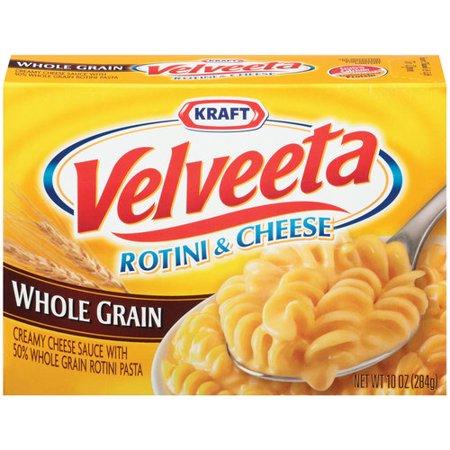Kraft Velveeta Rotini   Cheese Whole Grain  10 Oz  283G