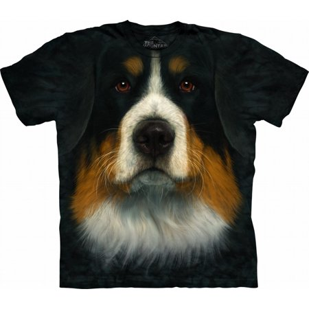 Adult Black 100% Cotton Bernese Mountain Dog T-Shirt