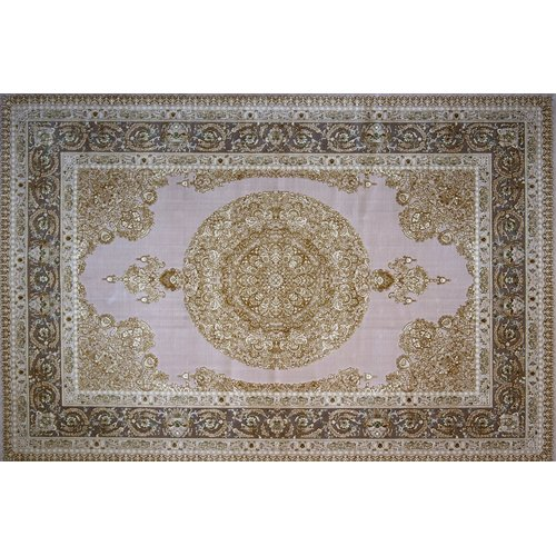 Astoria Grand Moriarty Hand Look Persian Wool Purple/Brown Area Rug