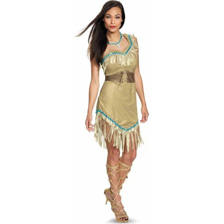 Disney Princess Pocahontas Deluxe Women's Adult Halloween Costume - Pochahontas Dress