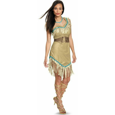 Disney Princess Pocahontas Deluxe Women's Adult Halloween Costume - Pocahontas Dress