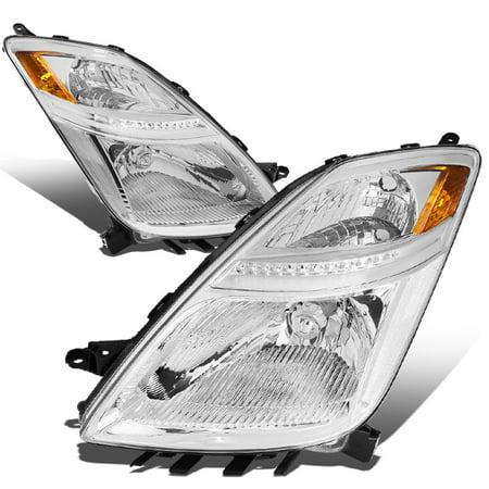 For 2006 to 2009 toyota Prius Headlight Chrome Housing Amber Corner Headlamp 07 08 XW20 Hybrid 2nd Gen Left+Right