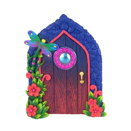 GlitZGlam Miniature Dragonfly Fairy Door for The Enchanted Garden Fairies and Gnomes. A Fairy and Gnome Garden Accessory (Miniature Dragonfly)