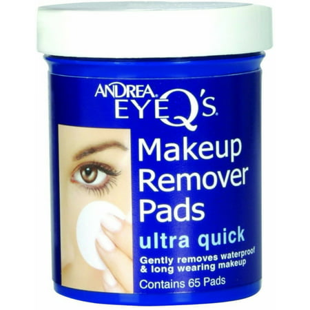 4 Pack - Andrea Eye Q's Eye Make-Up Remover Pads Ultra Quick 65 Each