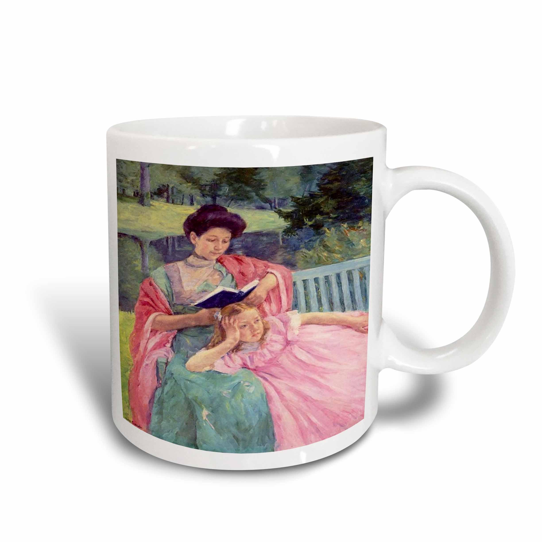 3dRose Photo Of Cassatt Painting Auguste Reading To Her Daughter, Ceramic Mug, 15-ounce