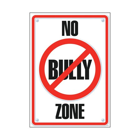 Usa Time Zone Display - No Bully Zone Poster (1 Piece), 13.38