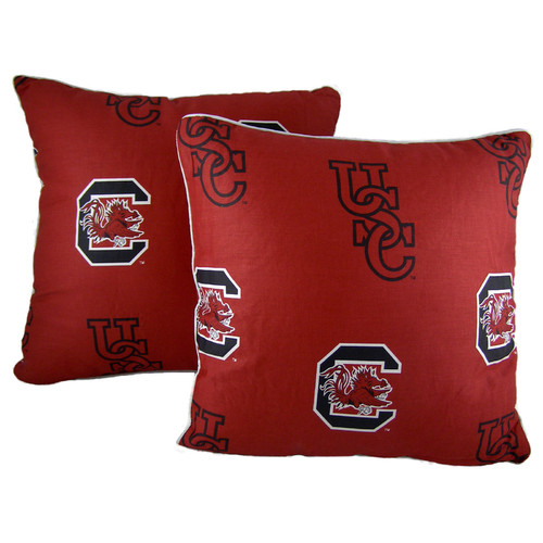 College Covers NCAA South Carolina Decorative Cotton Throw Pillow (Set of 2)